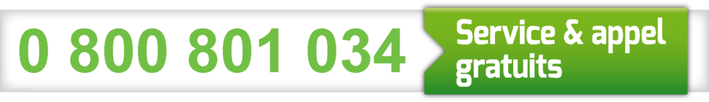 Numéro Vert 0 800 801 034 (Service & appel gratuits)